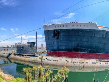 The rusted Soviet sub could torpedo the Queen Mary due to years of decay