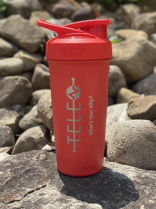 Red Blender Bottle- What's Your Why