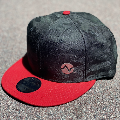 Black Camo/Red New Era SnapBack hat