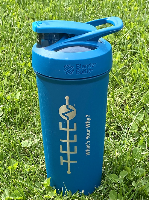 Blue Blender Bottle-What's Your Why