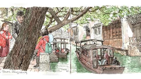 Wuzhen Canal Scene, Zhejiang