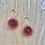 Thumbnail: Beaded Pansy Earring
