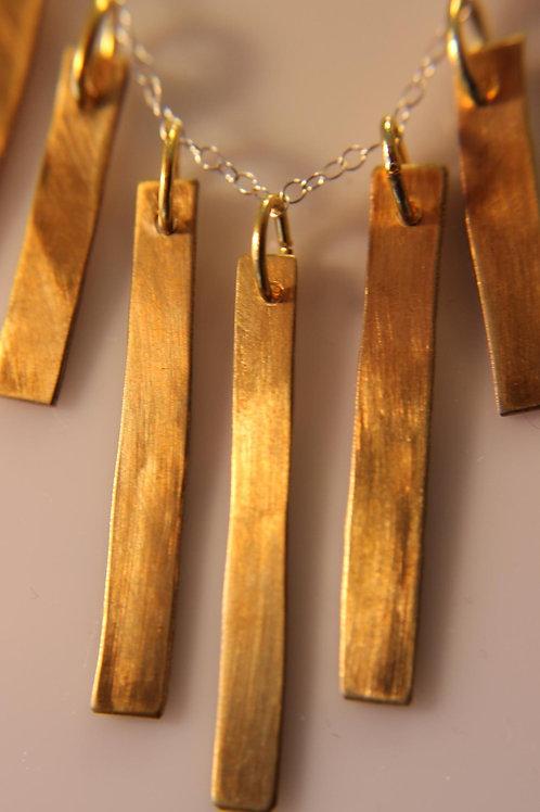 Brass Fringe Necklace