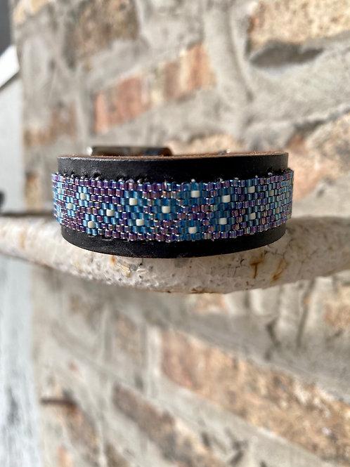 Purple and Blue Delica Bracelet