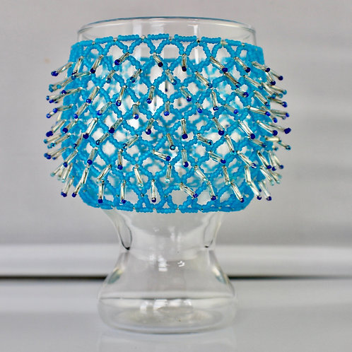 Fancy Blue Bubble Vase