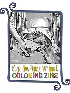 Gage the Flying Whippet Coloring Zine