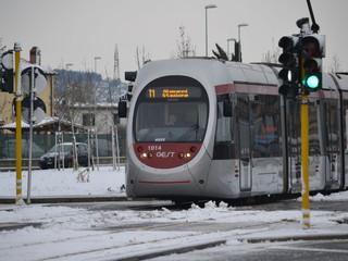 Pronti a gestire l'emergenza neve. Tram in servizio tutta la notte