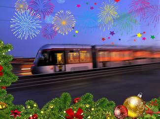 Orari e frequenze durante le feste natalizie. A Capodanno servizio no-stop per tutta la notte.