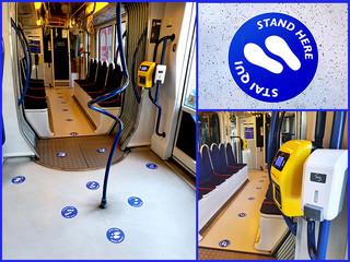 Fase 3: 103 posti disponibili e dispenser in tutti i tram