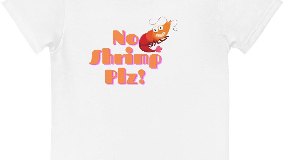 No Shrimp Kids crew neck t-shirt