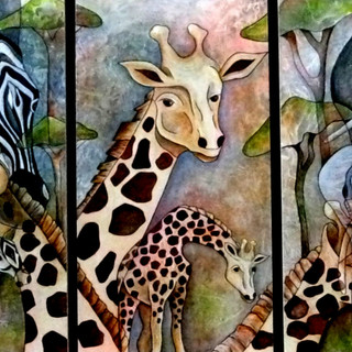 African Animal Trip-tych