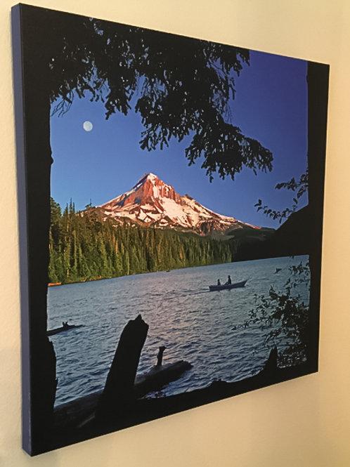 Mt. Hood at Lost Lake Ink on Canvas