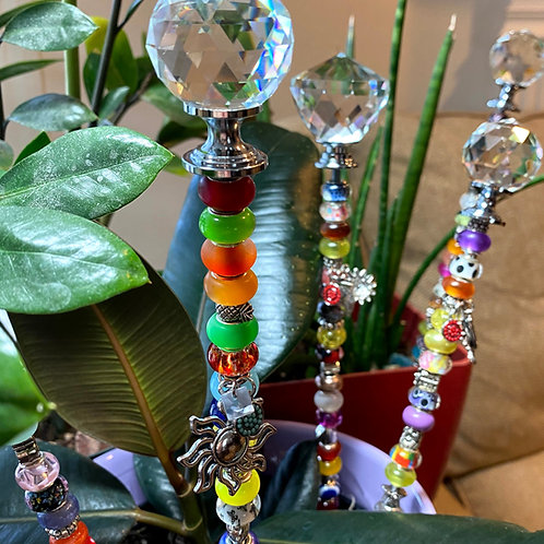Colorful Sun Catcher Plant Stakes