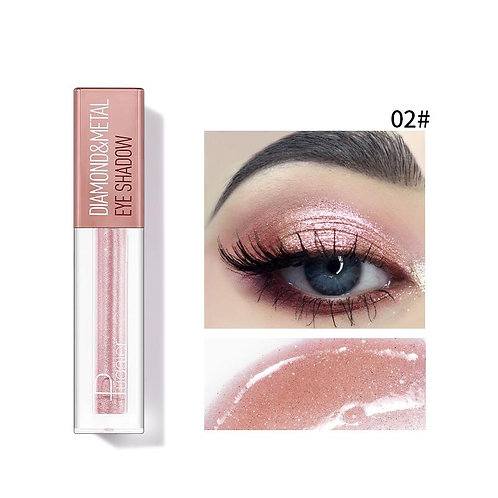 Pudaier Diamond Shimmer & Glow Liquid Eyeshadow   Matte Finished - Color #02