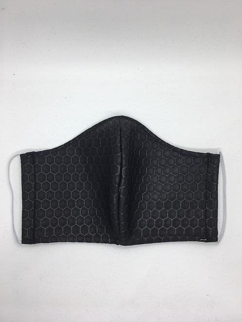 Black Textured Honeycomb Mask
