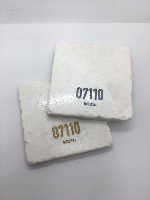 Marble Nutley Zip Code Coaster