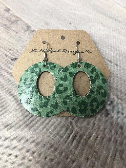 Cork Green Leopard Circle: North Road Designs