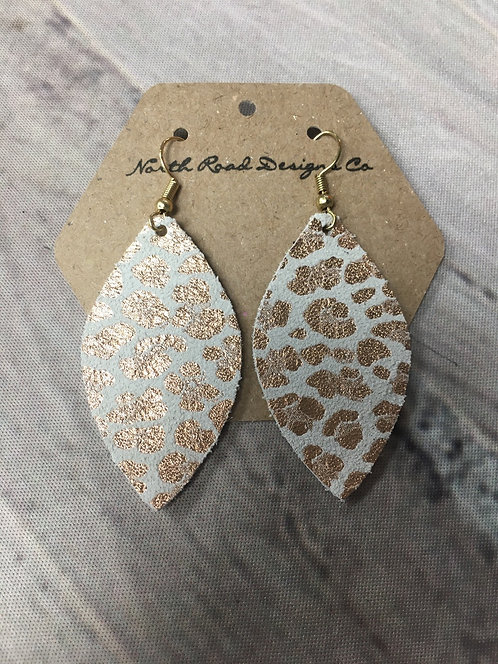 Rose Gold Leopard Leather: North Road Designs