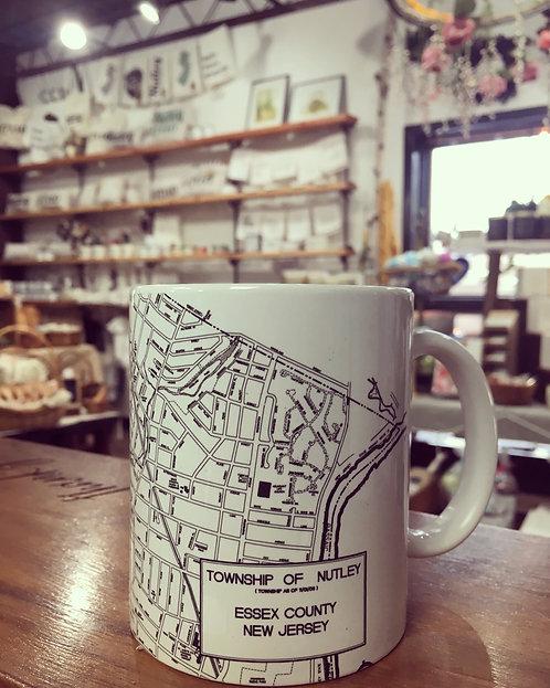 Ceramic Nutley Map Mug 11oz