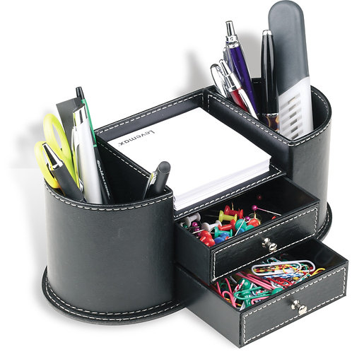 D-3148 Leather Desk Organizer