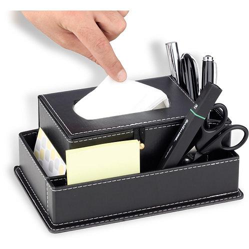 D-3163 Leather Desk Organizer