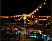 Hire festoons for outdoor areas