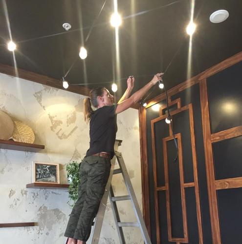 Installing festoon lights