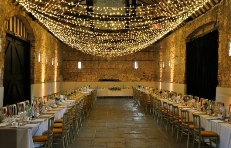 Wedding canopy of fairy lights