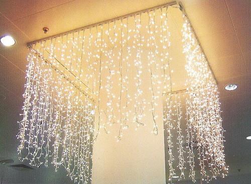 Fairy light curtain for weddings