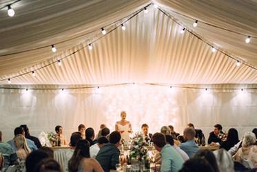 Hire festoon lights for weddings
