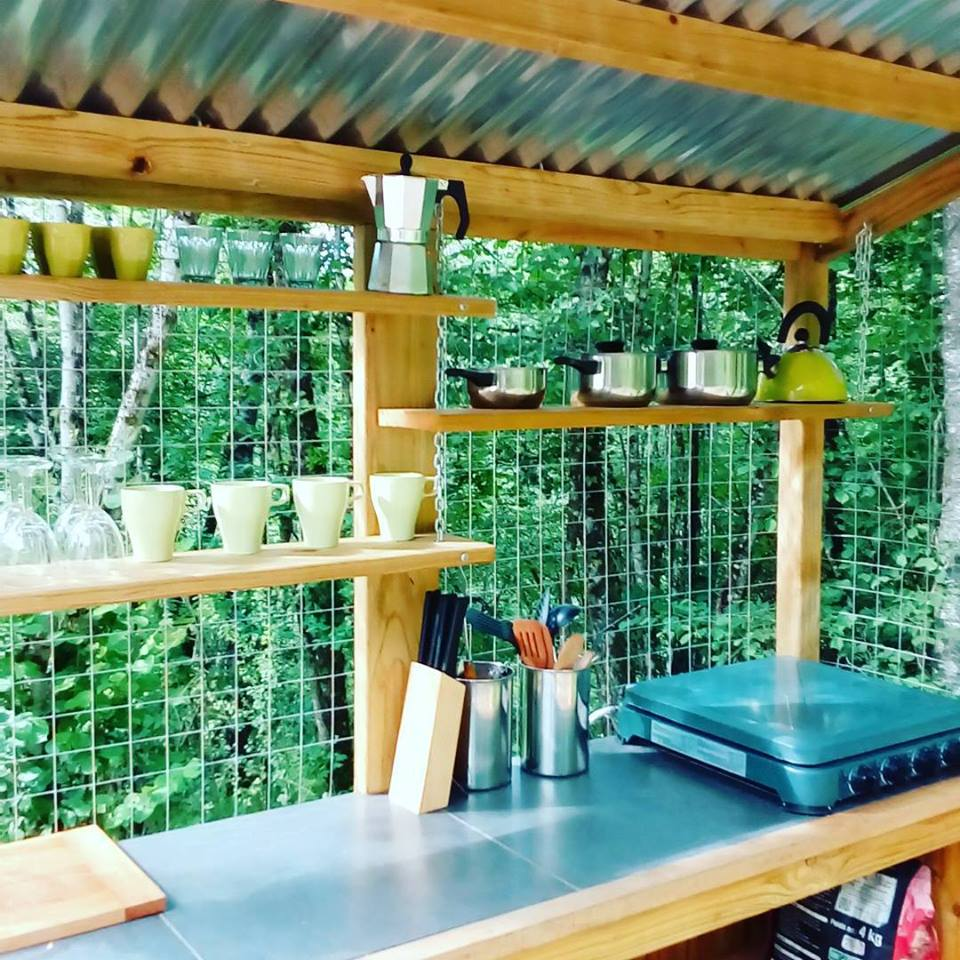 Bell Tent Outdoor Kitchen