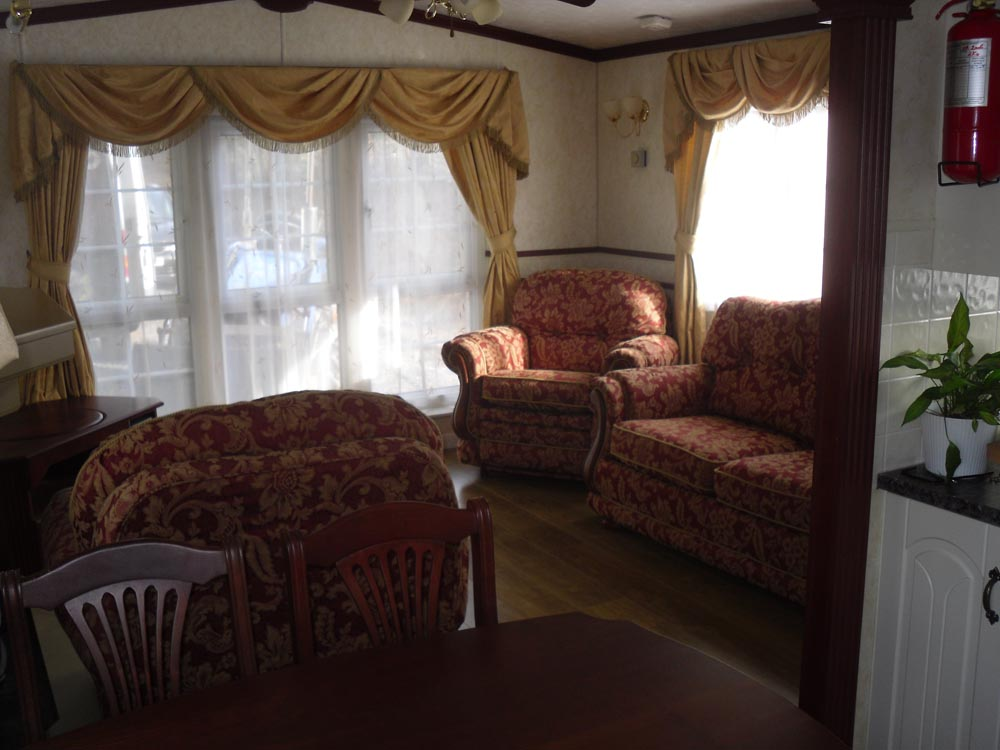 Mobile Home Lounge Area