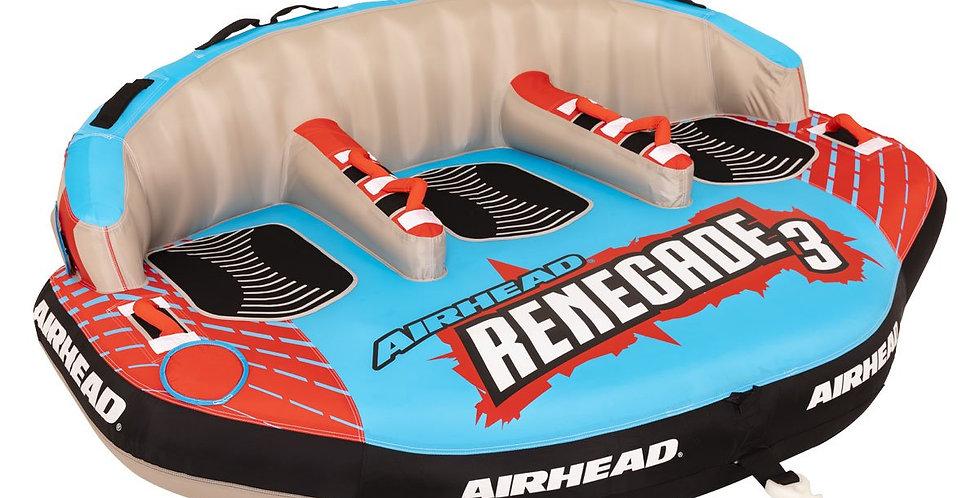 Airhead Remolcable Inflable Renegade 3 Kit con Cuerda y Bomba Eléctrica