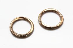 marriage ring3 K18 Diamond 断面♡