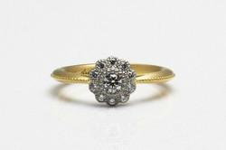engagement ring K18 PT900 Diamond