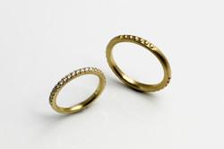 marriage ring4 K18 Diamond