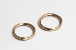 marriage ring3 K18 断面♡