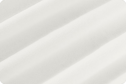 White Cuddle® fabric Soft Minky Shannon Fabric