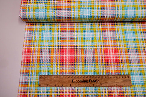 Wildflower patch plaid fabric, bee collection
