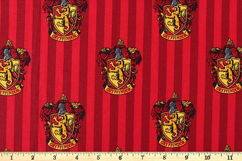 Gryffindor House Crest Fabric, Harry Potter fabric print, 100% Cotton Fabric