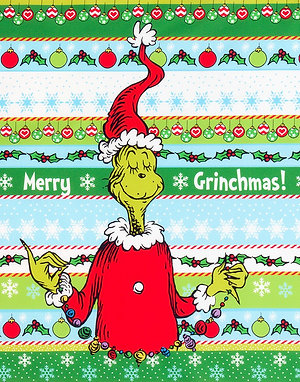"""How the Grinch Stole Christmas - 23.5"""" x 44"""" Large Grinch Panel"""