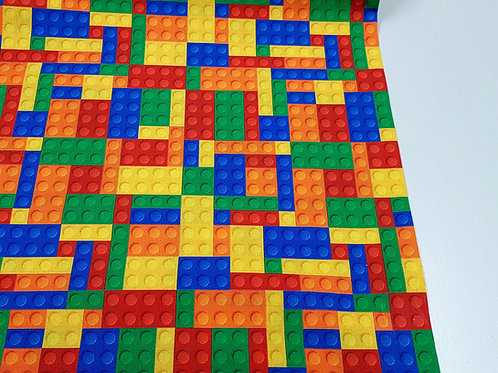 Building Block fabric, Lego fabric, 100% cotton, craft and quilting fabric