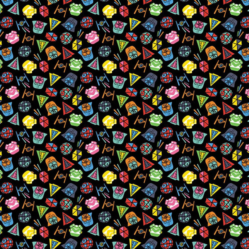 Star Wars Retro fabric 100% cotton, characters rainbow fabric, craft quilting