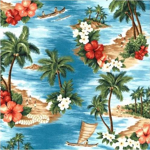 Tropical fabric river cotton Palm tree fabric  Hawaii cotton 100% cotton