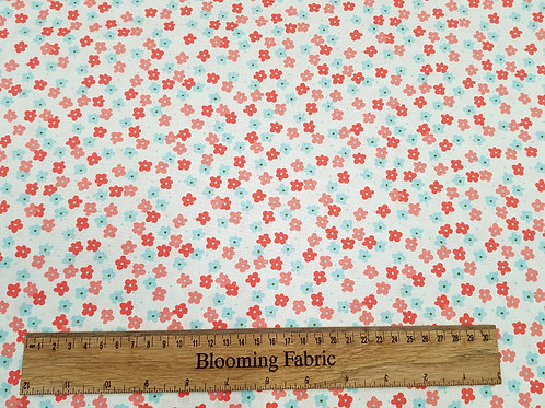 Floral fabric, Ditsy flower fabric, Spring flowers, 100% cotton