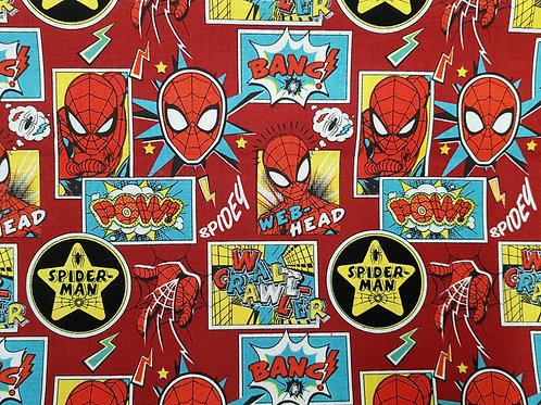 Spiderman fabric Power and responsibility, Marvel Comics fabric 100% cotton