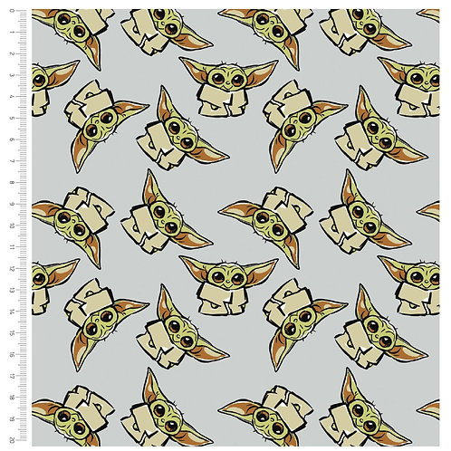 Yoda fabric, Star Wars fabric, Mandalorian fabric, 100% cotton