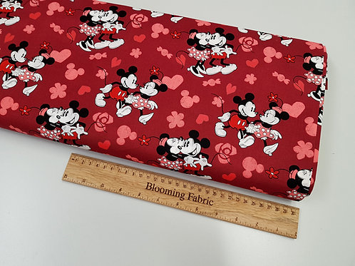 Mickey and Minnie Mouse cotton fabric, love fabric, 100% cotton