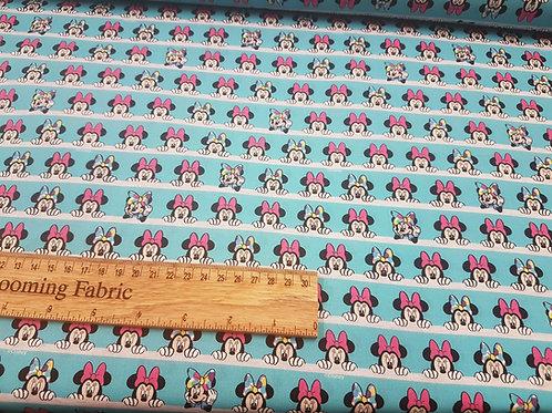Minnie Mouse fabric, rainbow fabric 100% cotton print