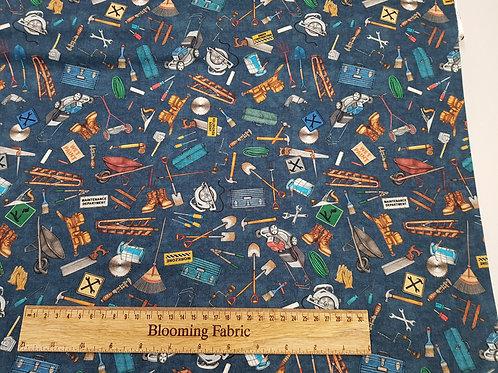 Handy Tool fabric, Lawn mower fabric, 100% Cotton Woven Fabric